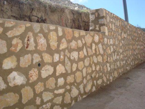Muro mamposteria rejuntado